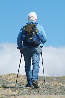 Nordic Walking, Mountains, Tourism, Wandering