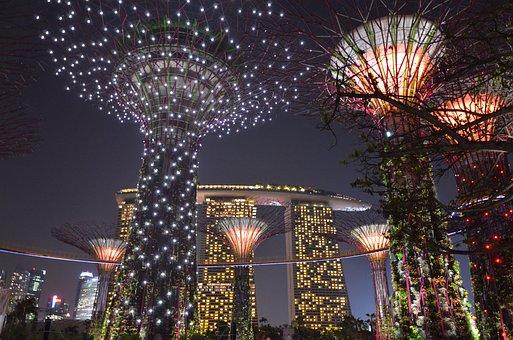 Singapore, Garden By The Bay, Tripnight, Fire