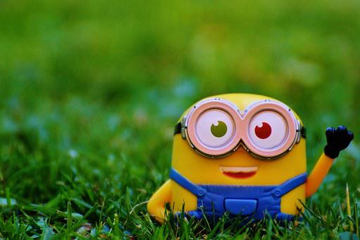Figure, Funny, Minions, Wave, Toys, Children, Yellow