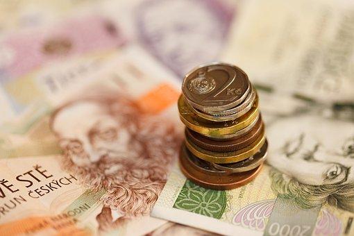 Banknotes, Bills, Business, Cash, Coin, Czech Crown