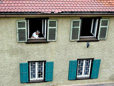 Facade, House, Window, Shutter, Bowever, Roof Plate