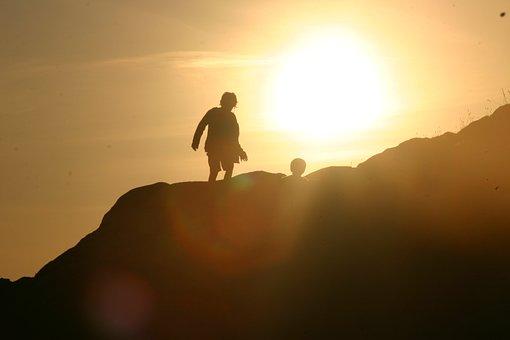 Sun, Lying Sun, Brittany, Carnac, Child, Child In Sun