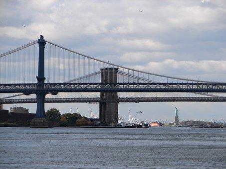 Statue Of Liberty, Brooklyn Bridge, Bridges