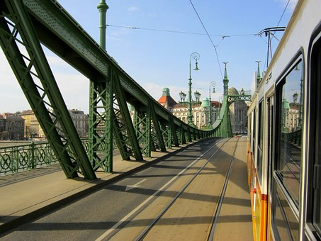 Budapest, Electric, Bridge, Liberty Bridge, Tracks