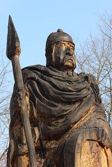 Celts, Figure, Wood, Carved, Old, Holzfigur