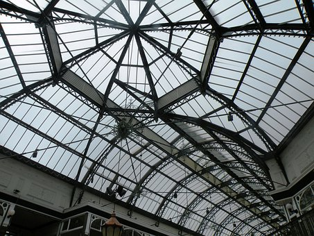 Ceiling, Glass, Roof, Structures, Patterns, Modern