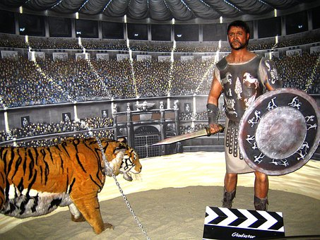 Gladiator, Colosseum, Gladiator Fight, Fighting Scene