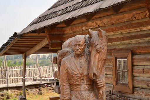 Monument, Wooden, Man, Culture, Wood, Statue