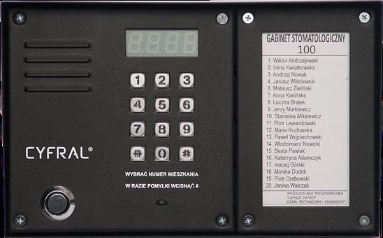Digital Intercom, Intercom Control Panel