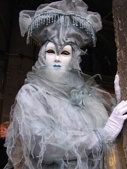 Carnival, Venice, Mask, Costume, Disguise, Mysterious