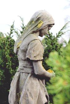 Figure, Statue, Sculpture, Woman, Face, Melancholic