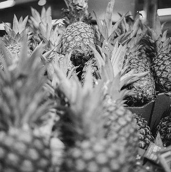 Pineapple, Market, Fruit, Food, Fresh, Healthy