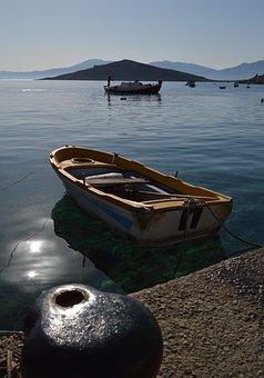 Chalki, Boat, Harbour, Moring, Island, Greece, Sea