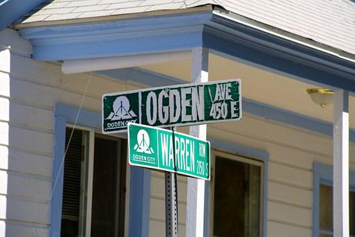 Street, Sign, Address, Destination, Green, Location
