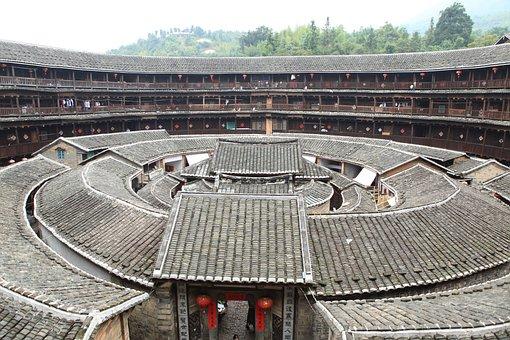 China, Fujian, Hakka, Minority, Houses, Earth Building