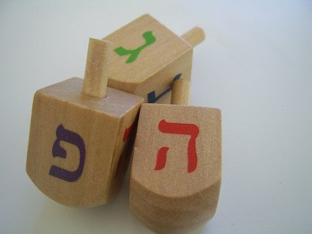 Dreidels, Hanukkah, Spinning Tops, Jewish, Holiday