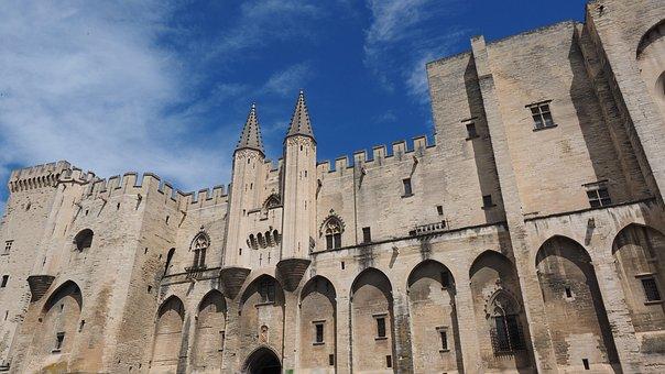 Avignon, Palais Des Papes, Building, Gigantic, Huge