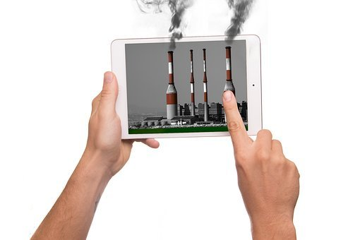 Tablet, Iman, Apple, Pollution, Action, Industry
