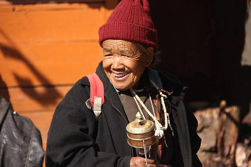 Woman, Ladhaki Woman, Old Woman, Mountain, Asia, Ladakh