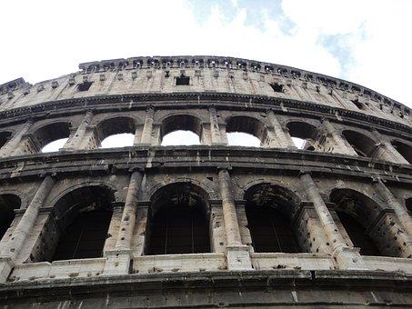 Colosseum, Rome, Italy, Historic, Landmark, Roman