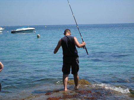 Fishing, Angling, Water, Sea, Fish, Leisure, Rod, Hobby