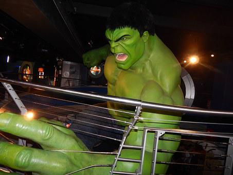 Hulk, Statue, Wax, Museum, England, London