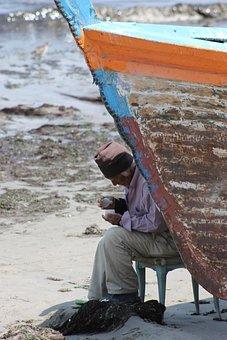 Sea, Fisher, Boat, Old Man, Man, Old, Fishing