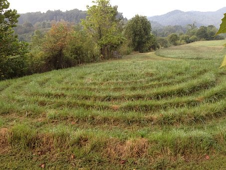 Labyrinth, Maze, Faith, Church, Outside, Nature, Scenic