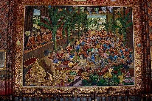 Painting A Wall, Khun Chang Khun Plan, Wat Pa Lay Lai
