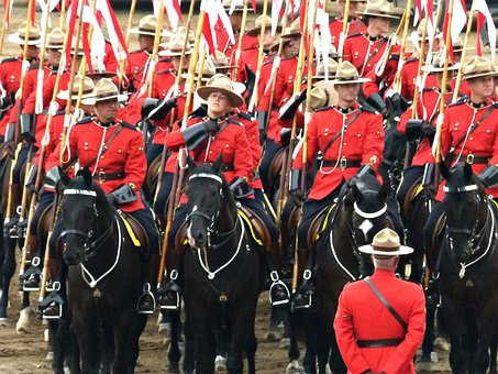 Royal Canadien Mounted Police, Crowd, Peoples, Calgary