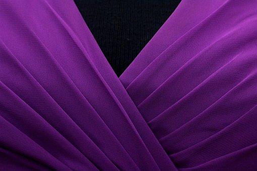 Pleated, Bodice, Violet, Fashion, Pleats, Dress