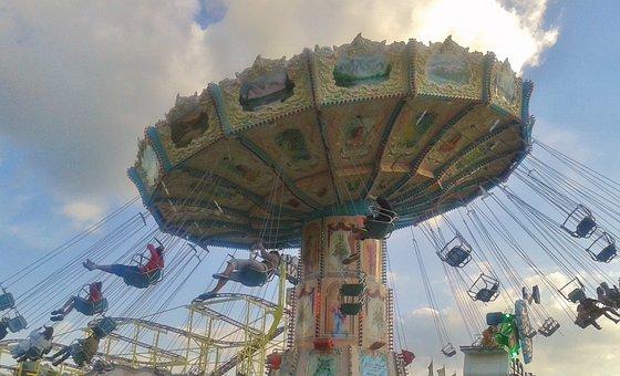 Chain Carousel, Fair, Carousel, Fling, Fun, Speed, Ride