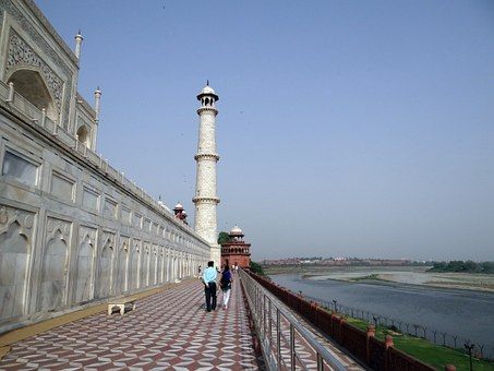 Taj Mahal, North-west Tower, River Side, Yamuna River