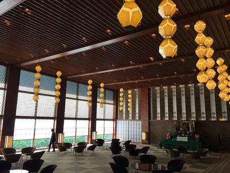 Japan, Room, Lanterns, Tokyo, Interior, Wood, Japanese