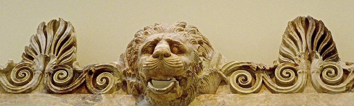 Lion, Bas-relief, Carving, Roman, Sandstone, Sculpture