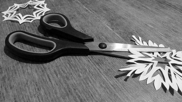 Scissors, Cut, Paper, Tool, Sharp, Metal