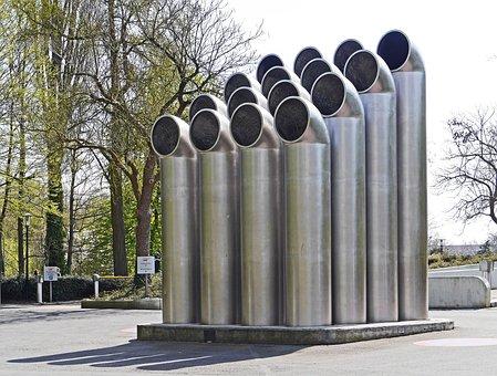 Pipe, Sculpture, Ventilation, Underground Car Park