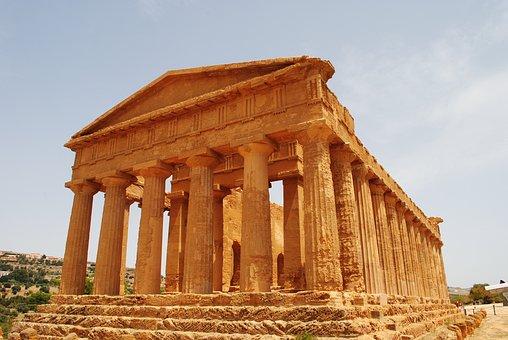 Italy, Romans, Sicilie, Temple, Concordia, Agrigento