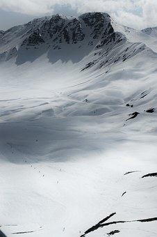 Winter, The Alps, France, Mountains, Snow, Landscape