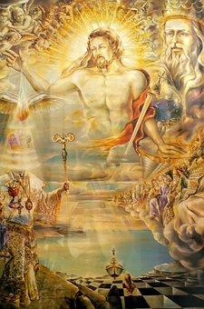 Greece, Rhodes, Kallithea, Spa, Mural, Art, Colorful