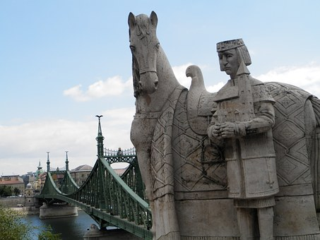 Statue, Liberty Bridge, Budapest, Hungary