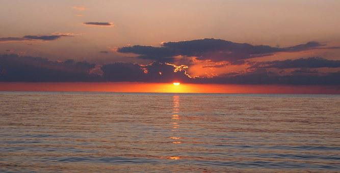 Crimea, Sea Of ​​azov, Vacation, Beach, Sunset, Summer