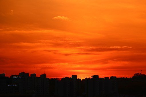 Glow, Life, Apartments, Sea, In The Evening, Sunset