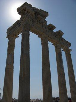 Side, Temple, Apollo, Roman, Antique