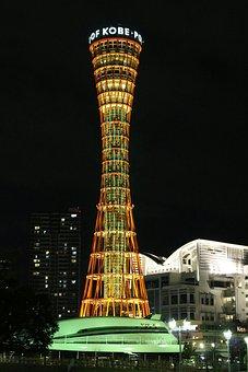 Kobe, Night View, Tower