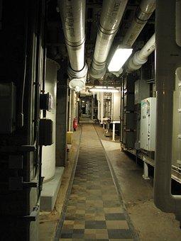 Biosphere, Arizona, Tunnel, Pipes, Checkered Tile