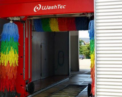 Car Wash, Auto, Clean, Rag, Colorful, Turn, Color, Wash