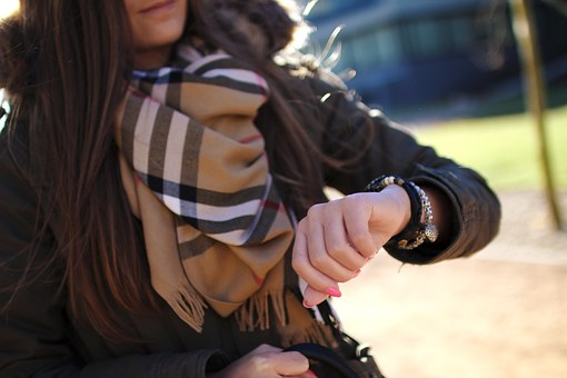 Watch, Time, Bracelet, Hand, Young, Girl, Woman