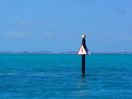 See, Ocean, Mark, Sign, Blue, Water, Channel, Marker