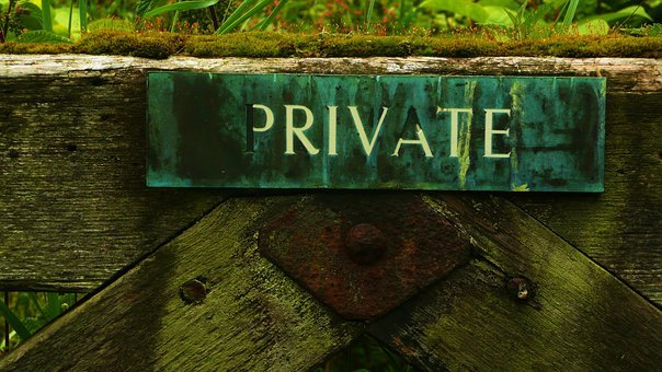 Private, Background, Wood, Gate, Land, Boundary